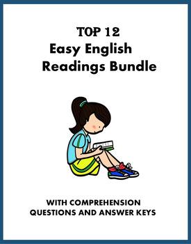Easy English Readings on Daily Topics: 10 ESL / EFL / ELA Readings @45% off!