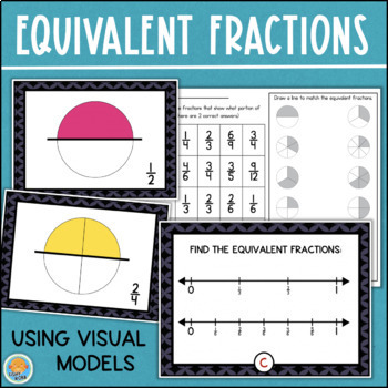 Equivalent Fractions Game and Worksheet/Assessment