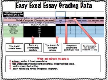 Easy Excel Essay Grading