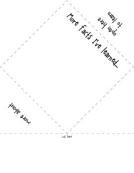 Easy Fact Foldable Informational Text Writing Project
