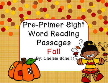 Easy Fall Sight Word Passages