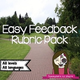 Easy Feedback Rubric Pack