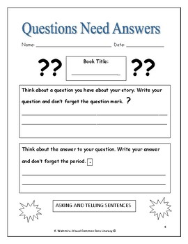 Easy Fiction Independent Reading Activities  High 1st & 2nd Grade