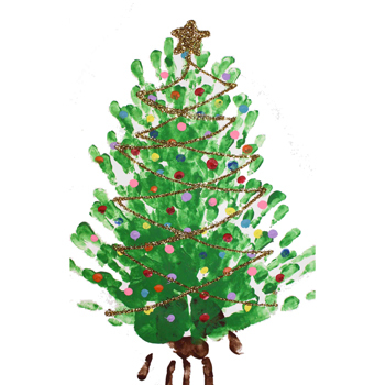 easy finger painting project christmas tree - How To Paint A Christmas Tree