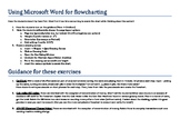 Easy Flow Chart Exercises using Word