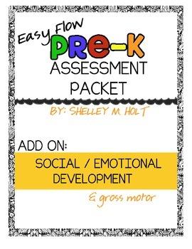 Easy Flow Pre-K Assessment Add-On: Social / Emotional Development