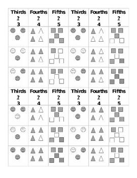 Easy Fraction Bingo