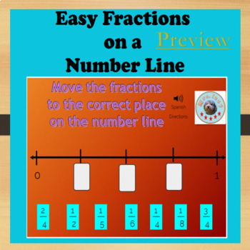 BoomCards - Easy Fractions on a Number Line