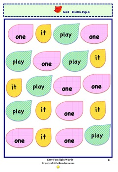 Easy Fun Sight Words, Sets 1-2