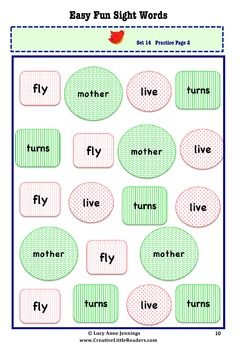 Easy Fun Sight Words, Sets 13-16
