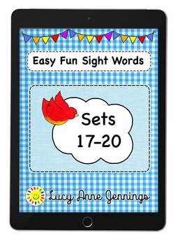 Easy Fun Sight Words, Sets 17-20