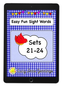 Easy Fun Sight Words, Sets 21-24