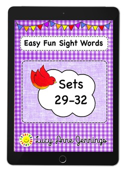 Easy Fun Sight Words, Sets 29-32