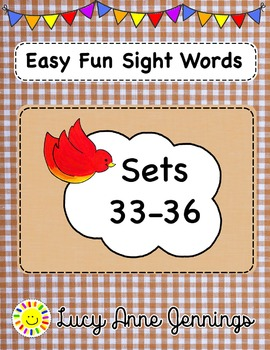 Easy Fun Sight Words Sets 33-36