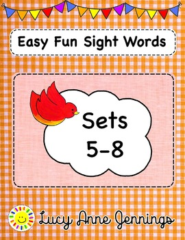 Easy Fun Sight Words, Sets 5-8