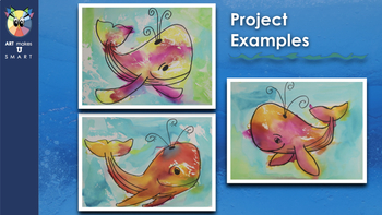 Easy Art Lesson Directed Draw and Watercolor Seahorse