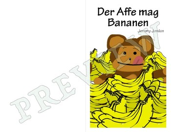 Easy German Reader - Der Affe mag Bananen