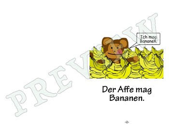 Easy German Reader - Der Affe mag Bananen