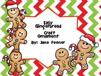 Easy Gingerbread Craft Ornament