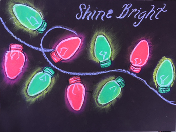 "Easy ""Glowing"" Christmas Light Art Work"