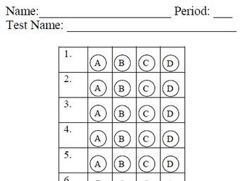 Easy Grade Answer Document