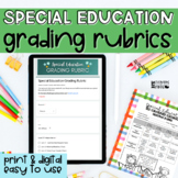 Easy Grading Rubric for Special Education | Digital& Print