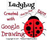 Easy Graphic Design Digital Ladybug - Google Drawing or Go