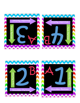 Easy Grouping- Colorful Chevron- Kagan Style