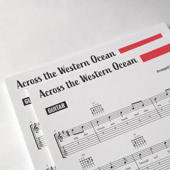 Easy Guitar: Across the Western Ocean - Irish Sea Chanty [