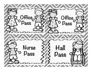 Easy Hall Passes for Lanyards