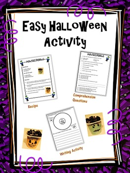 Easy Halloween Activity with Food