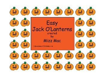 Easy Halloween Jack o Lantern art project
