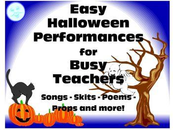 Easy Halloween Performances for Busy Teachers