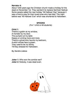 Easy Halloween Performances for Busy Teachers Grades 3-5