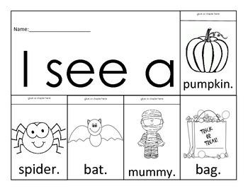 Easy Halloween Reader: Flip Book