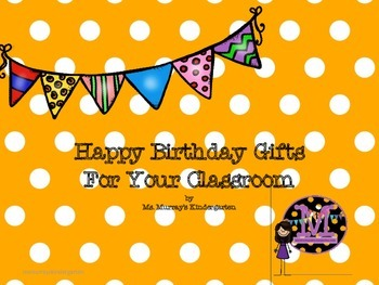 Easy Happy Birthday Cards/Gifts For The Classroom