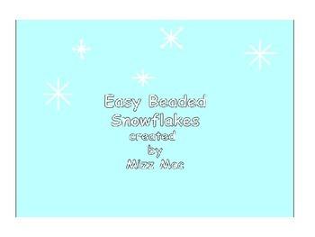 Easy Holiday Beaded Snowflake