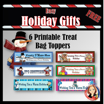 Holiday Gifts Printable Bag Toppers Freebie