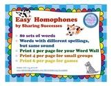 Easy Homophones
