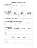 Easy IEP Checklist
