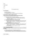 Easy Instructional Argumentative Essay Outline (MLA Format)