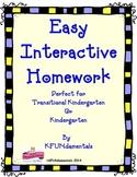 Easy, Interactive Kindergarten Homework: For TK, K or Spec