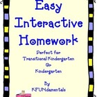 Easy, Interactive Kindergarten Homework: For TK, K or Spec