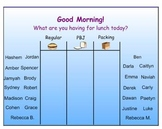Easy, Interactive Smart Board Attendance and Lunch Count