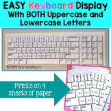 Easy Keyboard Display with Upper and Lowercase Letters