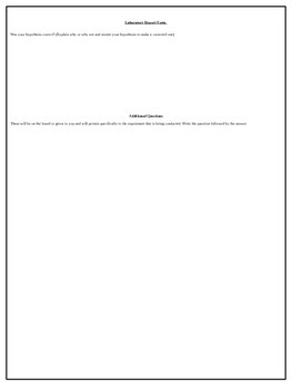 Easy Lab Report and Template for Middel and High School Students