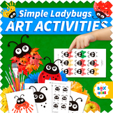 Easy Spring Art Projects Crafts for Pre-K, Preschool and Kindergarten (Ladybugs)