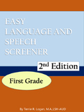 Easy Language Speech Screener (ELSS)  1st Grade- 2nd Edition