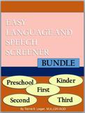 Easy Language and Speech Screener (ELSS) BUNDLE
