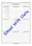 Easy Long Division With Decimal Numbers & Easy Divisors Worksheets
